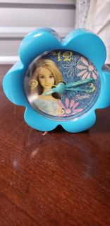 Vintage Small Barbie Battery Operated Clock