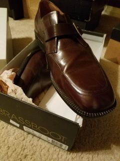 Men's Brown Dress Shoes with Buckle