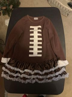 Girls boutique football dress med( fits like a 4)