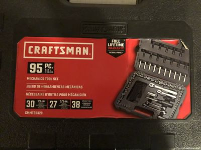 95 Piece Craftsman Mechanics Tool Set