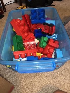 Blocks and tote ((MOVING SALE))