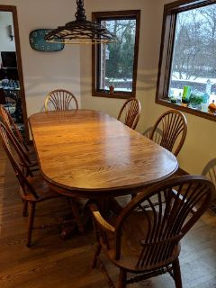 Solid Oak Richardson Brothers Table