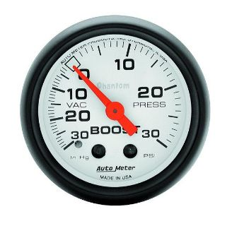 "Purchase Auto Meter 5703 Phantom 2-1-16"" Mechanical Boost/Vacuum Gauge 30 PSI motorcycle in Greenville, Wisconsin, US, for US $80.85"