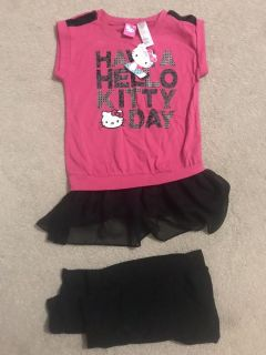 Brand new with tag hello kitty girls outfit size 6