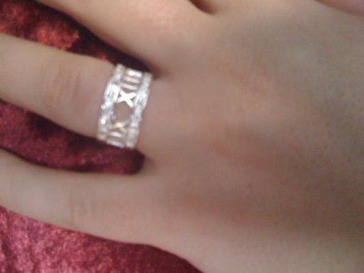 REDUCED!!!Sterling silver 925 ring with diamonds size 8