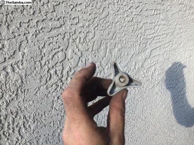Fresh air vent knob handle