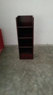 Small desktop shelf with drawer at bottom