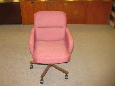 $125, Red swivel office chair