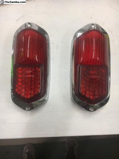 Low light Karmann Ghia tail lights