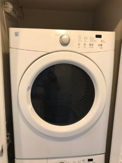 Stackable kenmore washer/dryer