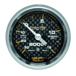 Sell AutoMeter 4776 Carbon Fiber Electric Boost/Vacuum Gauge motorcycle in Naperville, IL, United States, for US $226.95