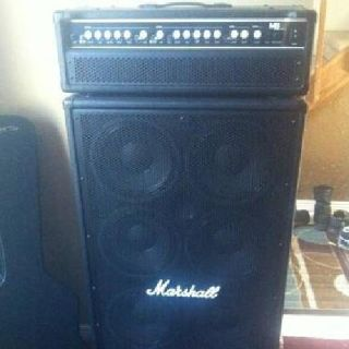 $1,050 Marshall MB450H Bass Head and 8x10 Cabinet