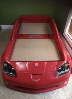 Corvette car toddler bed to twin bed