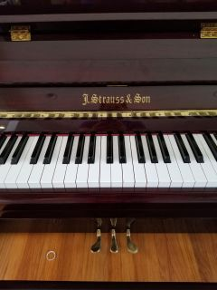 J Strauss and son piano upright