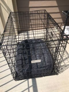 Medium Dog Crate with bed