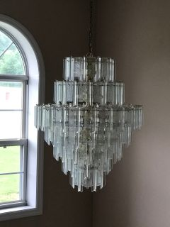 Chandelier and ceiling mount light