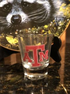 Texas A&M Aggies 2 oz Elite Shot Glass. Retails for $7.99 As Shown In Last Picture. Great Stocking Stuffer.