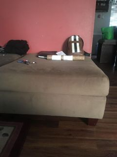 Large tan/camel colored ottoman