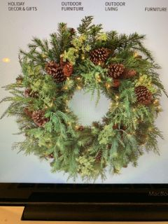 2 Frontgate 30 inch Wreaths with Storage Bags