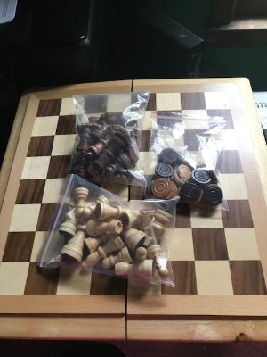 Chess and Checker Set