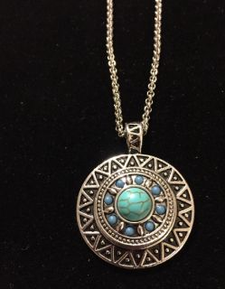 NEW, SNAP NECKLACE, TURQUOISE SNAP INCLUDED, 18MM, FITS GINGERSNAP BRAND