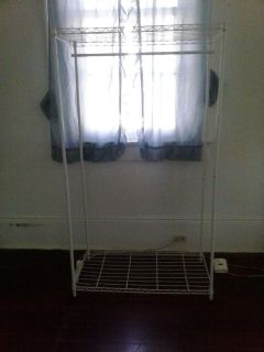 $20, large shelf- hang clothes or store other items