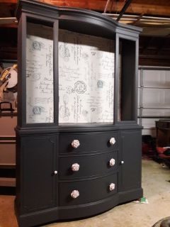 Furniture /Antique China cabinet painted