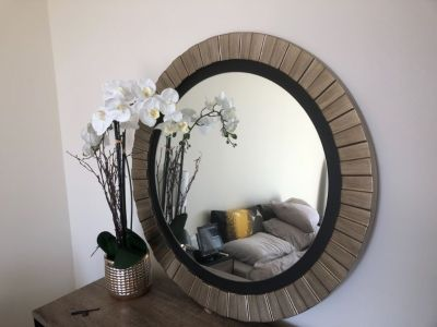 Wall Mounted Mirror - Gold Frame