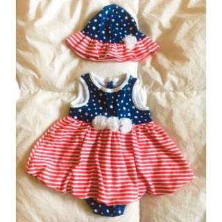 LITTLE ME BABY GIRL 4TH OF JULY ROMPER