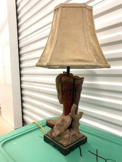 Western lamp with shade
