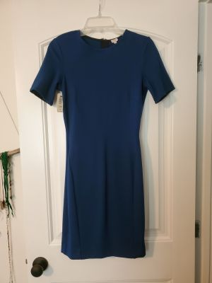 Very flattering Royal Navy Blue dress