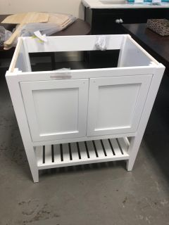 30 White Bathroom Vanity with no top