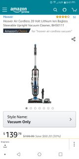 *BRAND NEW IN BOX* Hoover Air Cordless 20 Volt Lithium Ion Bagless Steerable Upright Vacuum Cleaner