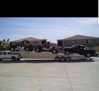 Aluminum 3 car hauler