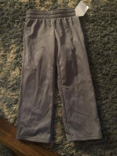 NWT CHAMPION DUO-DRY GRAY ATHLETIC PANTS WITH DRAWSTRING WAIST SIZE 4-5