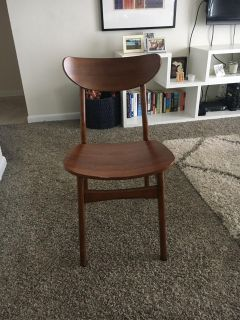 Set of Four West Elm Dining Chairs