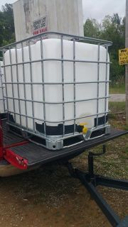 $75, Food Grade 275 gallon containers