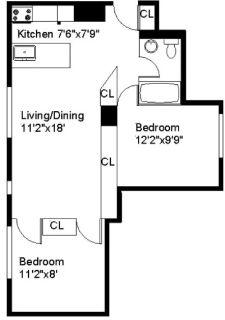 2-Bedroom 1-Bath- Downtown Center Ithaca - Jan '19 - April '19