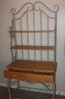 Large Two Drawer Bakers Rack