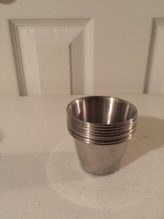 8 Stainless Steel 2-oz Sauce and Condiment Cups