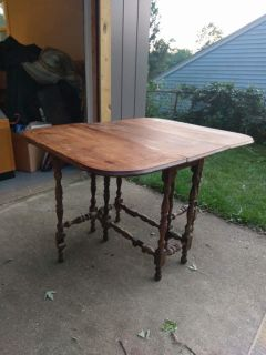 Antique fold out table