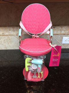 Our Generation Sitting Pretty Salon Chair . NEW. $12. For 18 dolls. Quick pick up behind YMCA