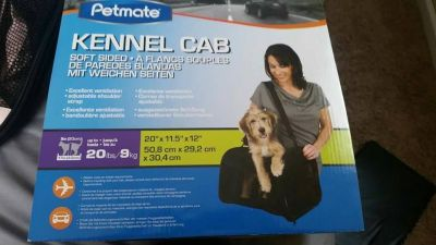 Petmate kennel cab BRAND NEW Light pink with a zebra insert