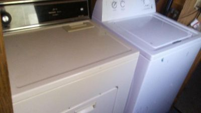 washer and dryer not matching set but works perfect