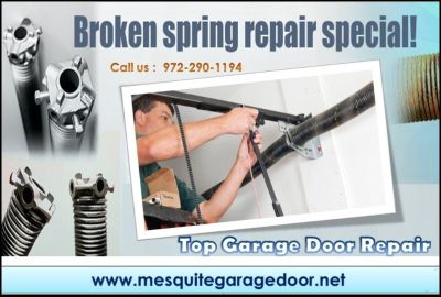 $25.95 |Garage Door Repair, Spring Repair & New Installation Mesquite Dallas, 75150 TX