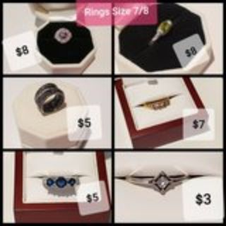 Rings Size7/8