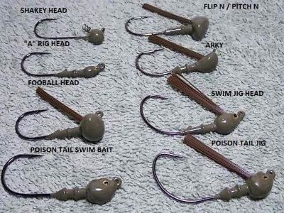 JIG HEADS from www.jigs4bass.com
