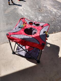 Foldable, portable, exersaucer.