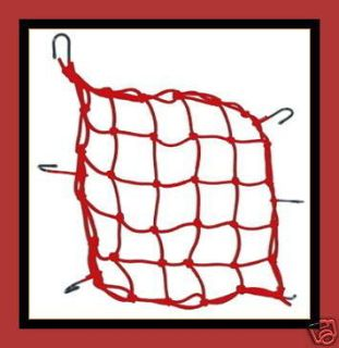Sell MOTORCYCLE CARGO NET HELMET WEB BUNGEE PACKING RED motorcycle in Bemidji, Minnesota, US, for US $10.95