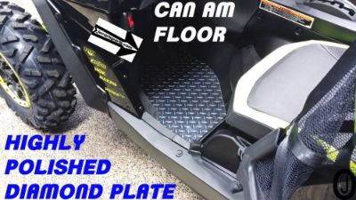 Buy CAN AM MAVERICK CUSTOM CUT DIAMOND PLATE FLOOR BOARDS 2012-16 motorcycle in Elmwood Park, Illinois, United States, for US $88.95